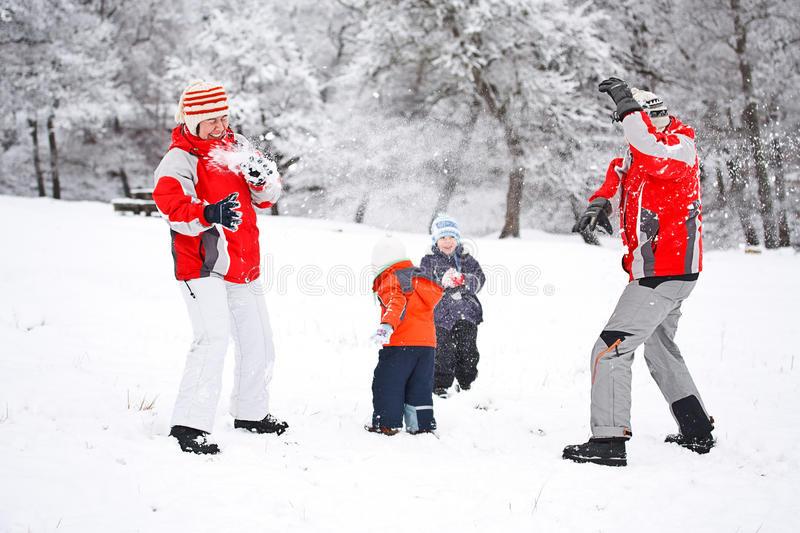 porodica i sneg