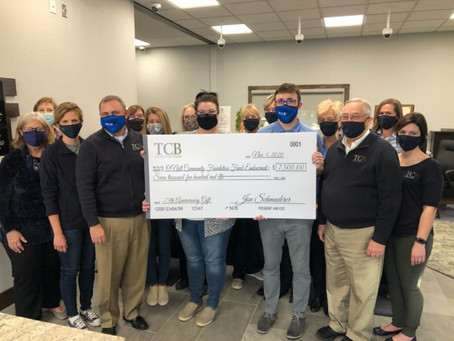 TCB Donates to Area Community Foundations For Its 75th Anniversary