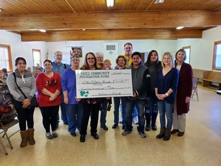 O'Neill Community Foundation Fund Awards Grant to the O'Neill Basic Needs Pantry