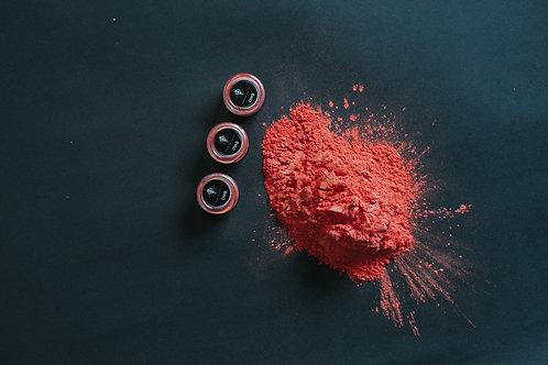 Pigmentos en polvo brillantes CORAL BRILLANTE