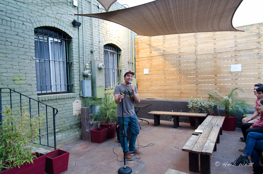 Comedian in the Courtyard!