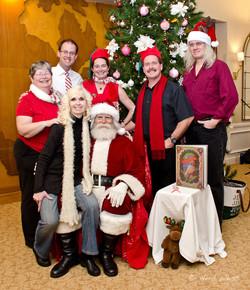 Carolers with Santa