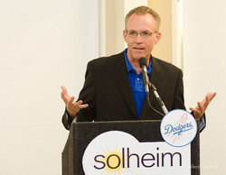 LA Dodgers historian at Solheim