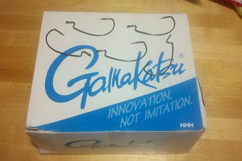 Gamakatsu Offset EWG Worm Hooks Black. 2/0 6 per pack