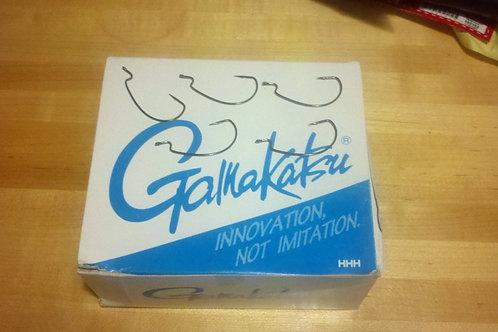 Gamakatsu Offset EWG Worm Hooks Black. 2/0 Bulk 25 per pack