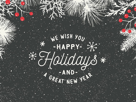 November/December 2020 Newsletter. Happy Holidays!