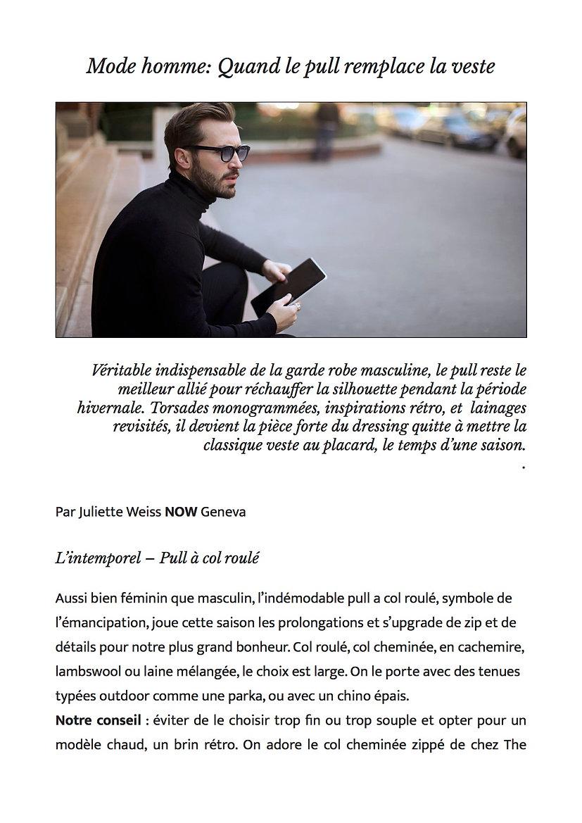 NOW Geneva - Le pull remplace la veste.j