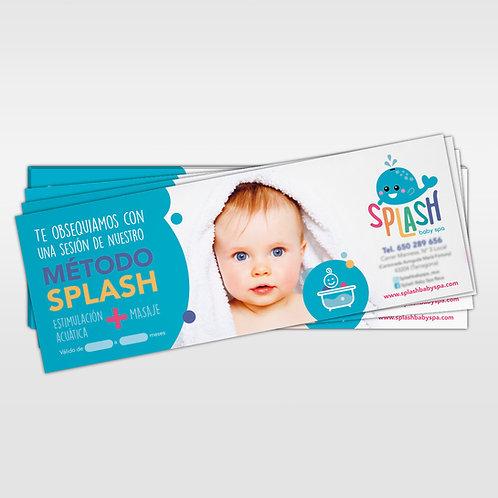 Invitaciones Splash Baby Spa