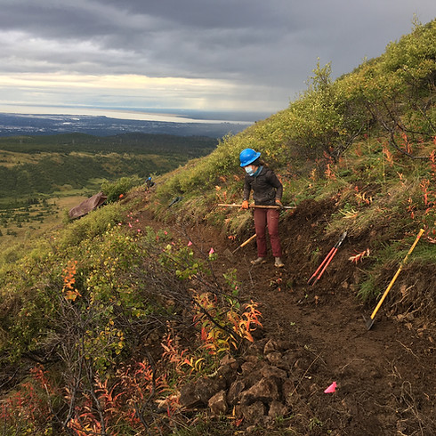 Volunteer on the Little O'Malley Peak Trail