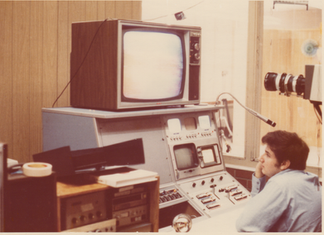 Control room at City Center for Learning, St. Petersburg, Florida
