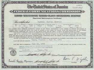 FCC 3rd Class License