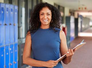 middle-aged-black-female-teacher-smiling