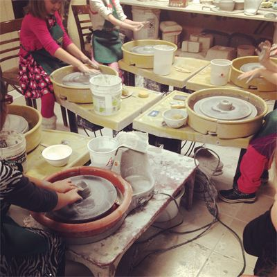 Group pottery classes