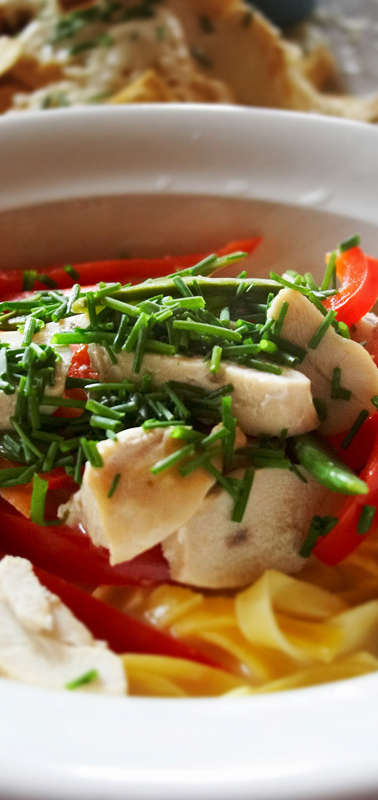 Pasta with Chicken and Bell Peppers