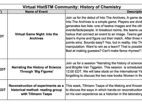 20-24 July: Virtual HistSTM Chemistry Week