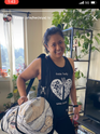 Kateri wearing the shirt AND the Duffle!