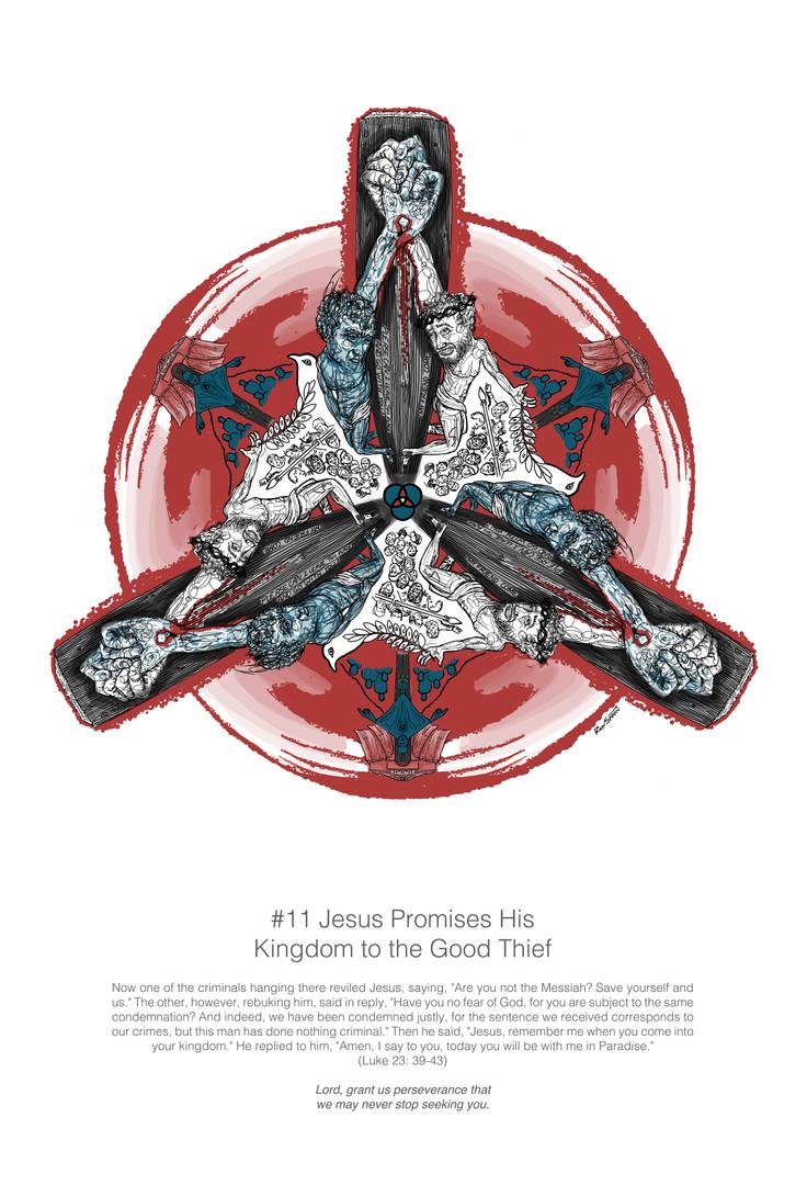 Mandala Station 11- Jesus promises his k