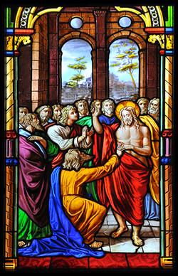 ⅩⅤ.耶穌讓多默觸摸傷痕