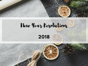 My New Year Resolutions | 2018