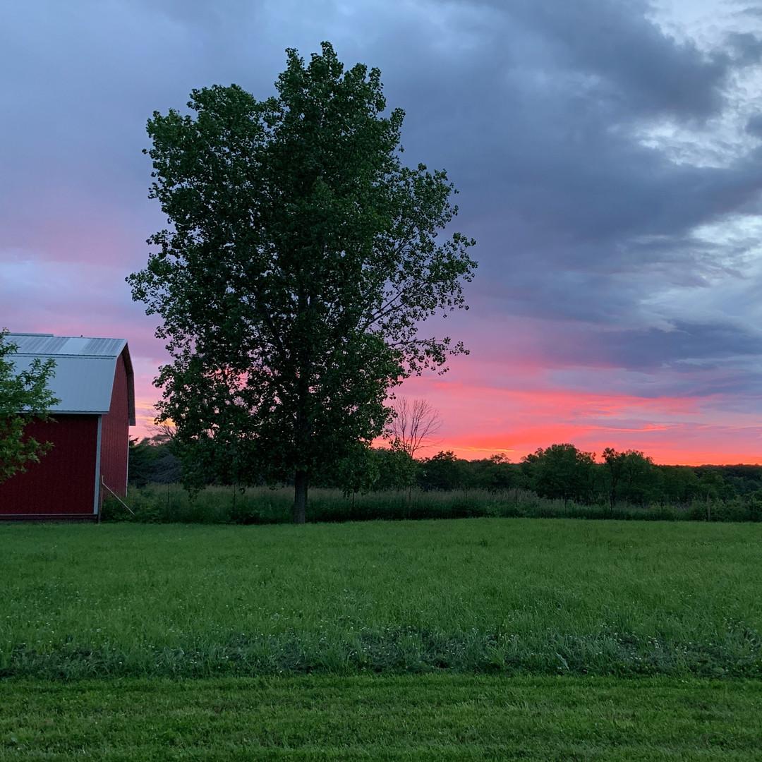 Sunset at The Big Barn
