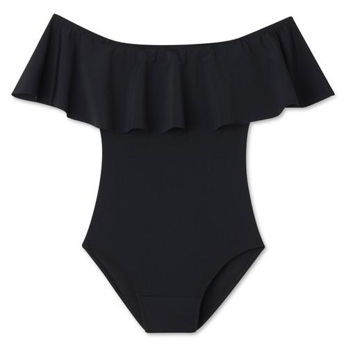 cda0180bc9 Period Swimwear Off-the-Shoulder - Black Sea