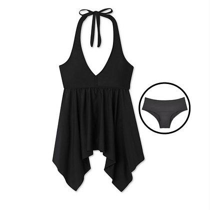 Period Swimwear Tankini Set (Black Sea)