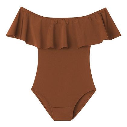Period Swimwear Off Shoulder Ruffle (Hawaiian Mountain)