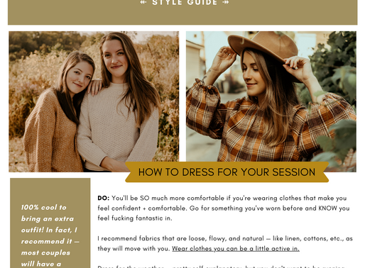 2020 STYLE GUIDE | KIRA MCGRIGG PHOTO
