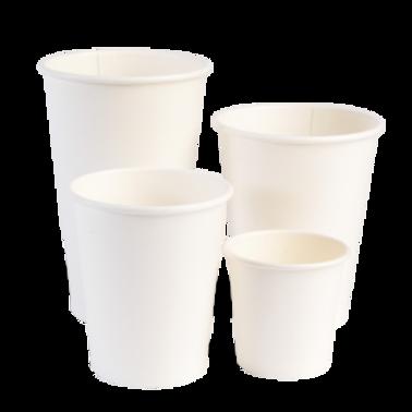 White Matte Single Wall Cup