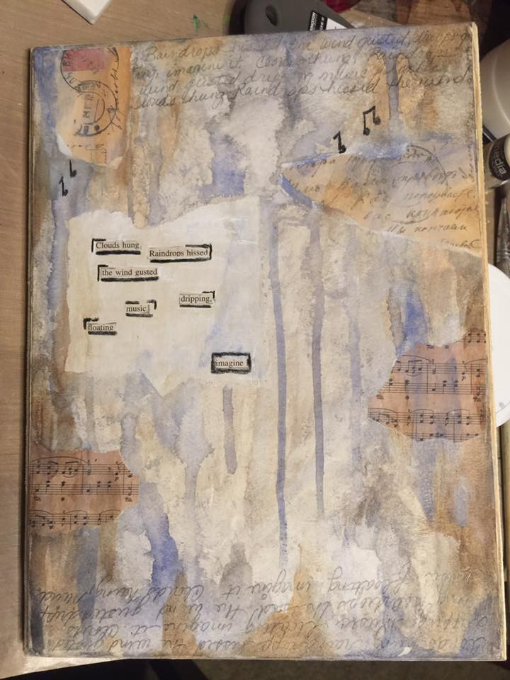 My first encaustic and block poetry piece.