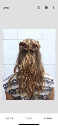 Heather VanHuss, Hermosa Beach Hair Stylist, Snapseed App