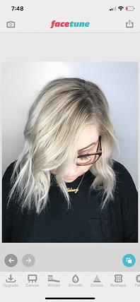 Heather VanHuss, Hermosa Beach Hair Stylist, FaceTune App