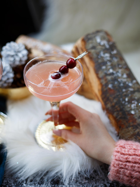 Winter Cocktail Content Creation