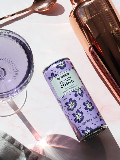 Purple Gin Flat Lay- All Shook Up