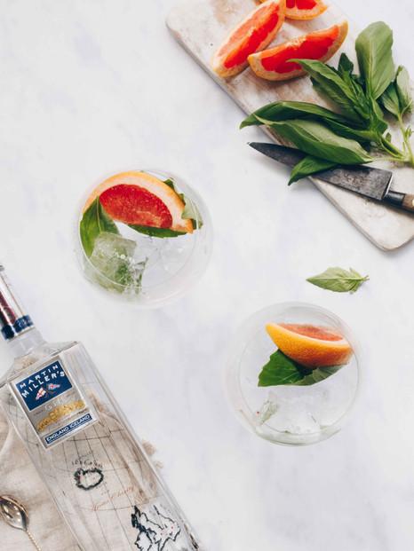 Martin Miller's Gin Grapefruit & Basil G & T