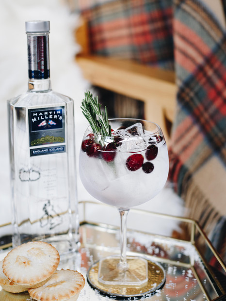 Christmas Cranberry and Rosemary G&T