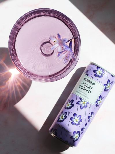 Violet Cocktail Content Creation
