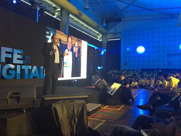 Speaking at the LIFEx DIGITAL by DIGI in 2017