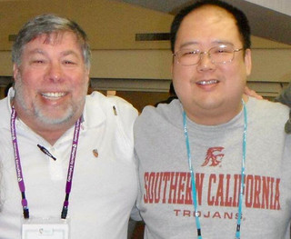 With Steve Wozniak, co-founder of Apple