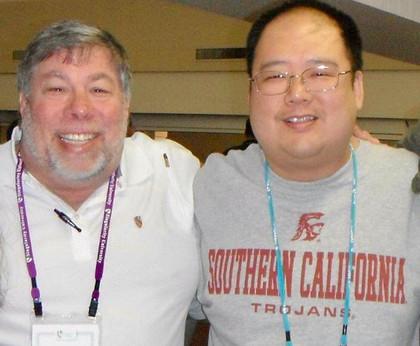 With Steve Wozniak, co-founder of Apple