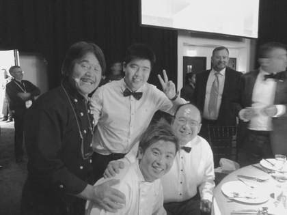 With Iron Chef Hiroki Sakai