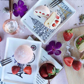 🍓Strawberry Mochi Cake 🍰  (Inspired by Lawson)