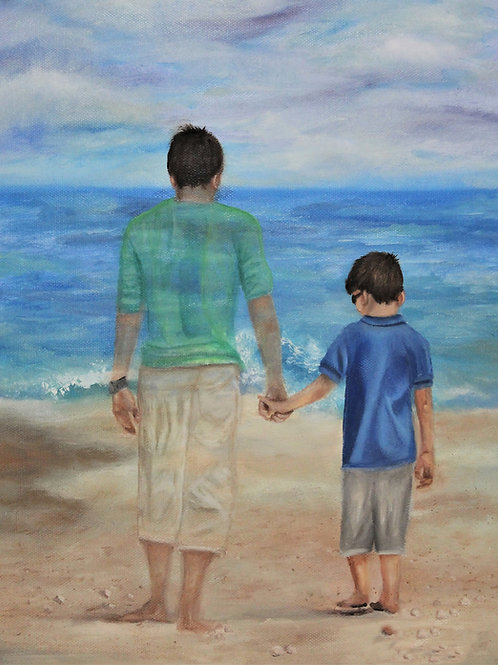 """Spiritual Bond"" 11x14 oil painting on canvas"