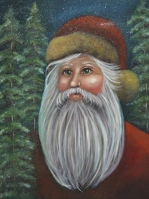 """Woodland Santa""  11x14 Oil painting on canvas"
