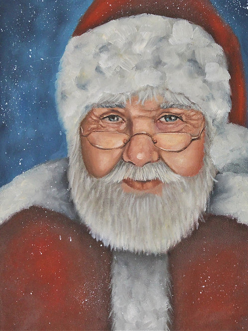 The Claus - 9x12 Oil painting on canvas