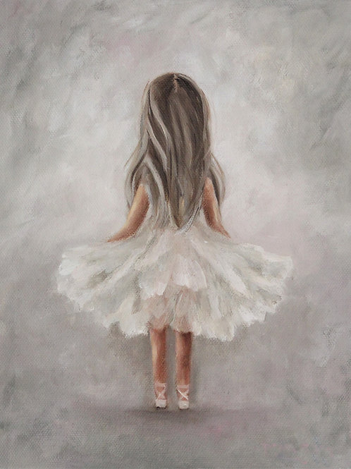 """Tiny Dancer"" 8x10 oil painting on canvas"