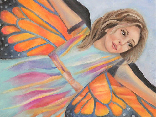 """""""If I had wings, I would fly"""" 8x10 oil on canvas"""