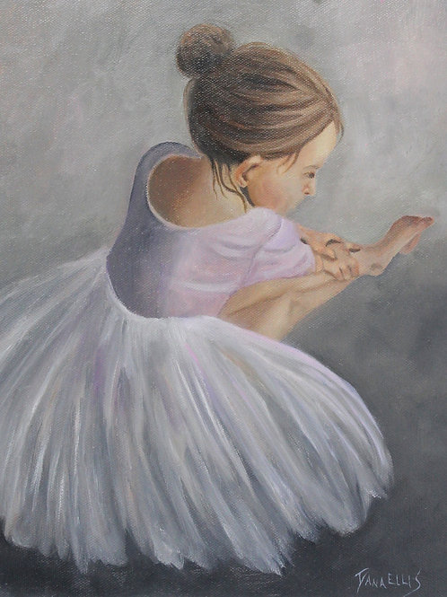 """""""Before the Dance"""" 11x14 Oil painting on canvas"""