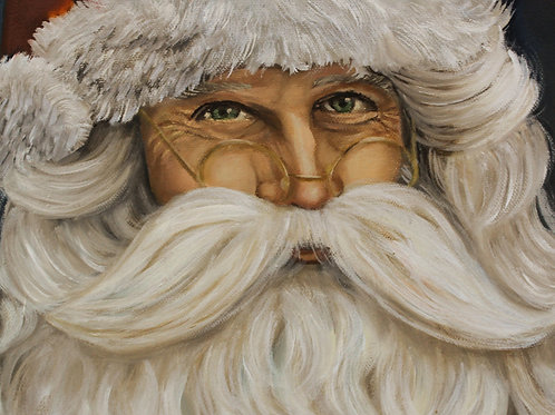 Santa - 5x7 Oil painting on canvas