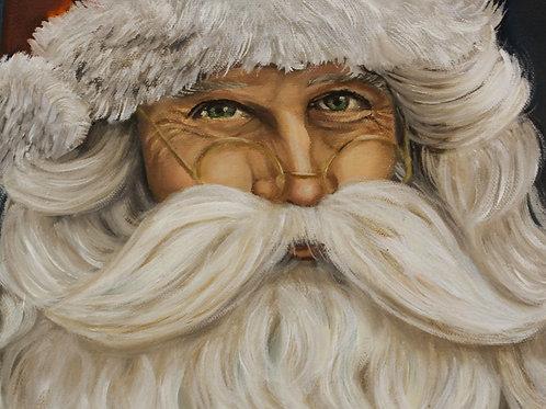 Santa - 5x7 Oil painting on canvas